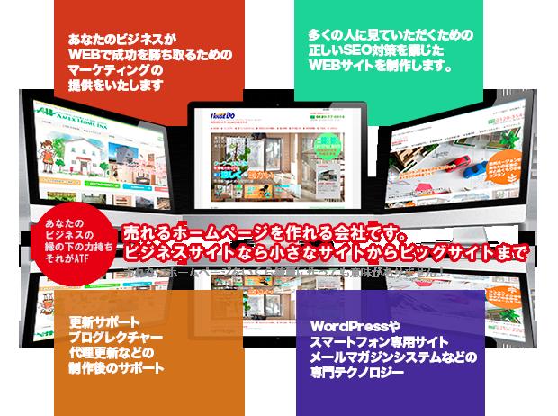 売れるホームページを作れる会社です。 ビジネスサイトなら小さなサイトからビッグサイトまで