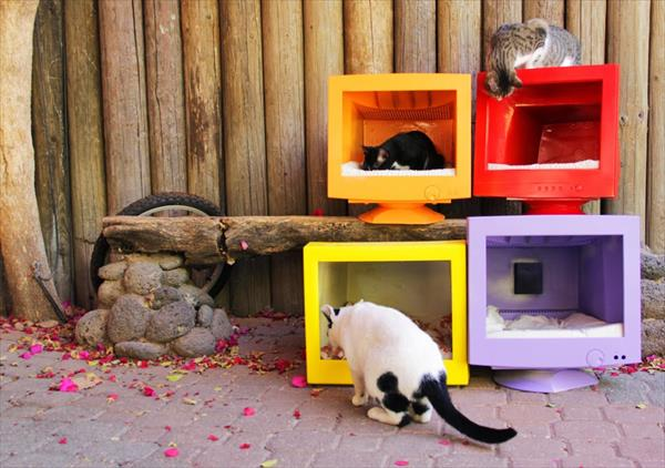 DIY Old Computer Screens Cat houses – Pet Houses
